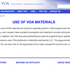 Use of VOA Materials-Available